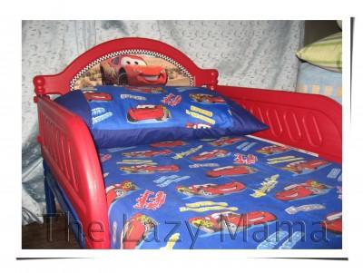 Lightning Mcqueen   on Toddler Bed Disney Cars Lightning Mcqueen